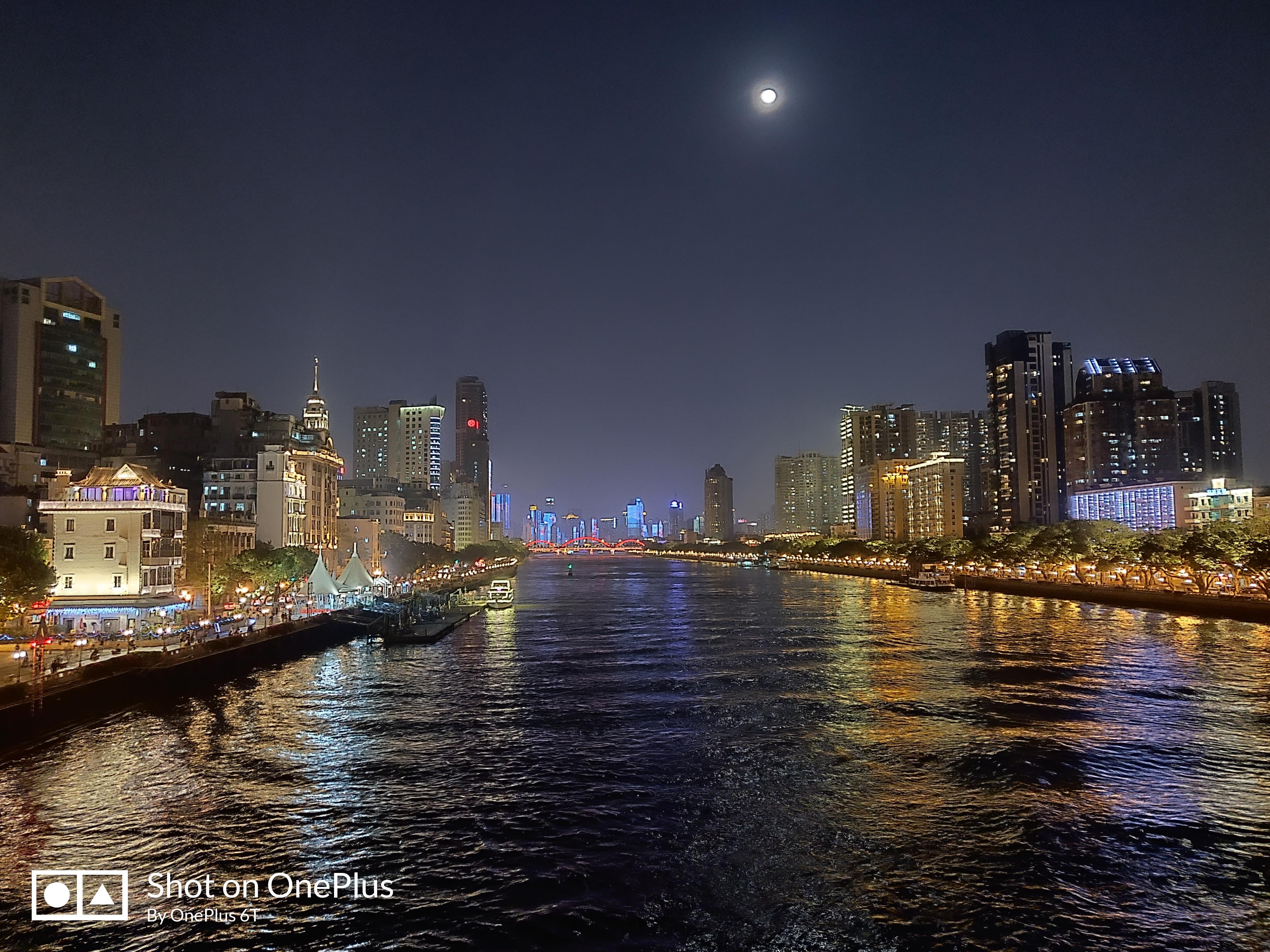 一加6T/iPhone Xs拍照样张对比:超级夜景模式