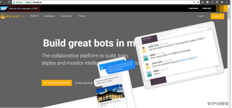 使用Recast.AI创建具有人工智能的聊天机器人
