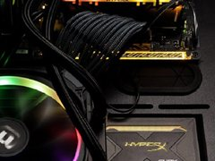 10秒开机!HyperX FURY雷电RGB炫彩固态硬盘