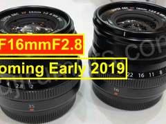 富士将推出XF16mm f/2.8新镜头