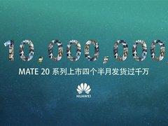 再创新高!华为Mate20系列上市4个半月发货量破千万台