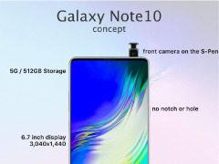 在触控笔上加相机?三星Galaxy Note 10渲染图曝光