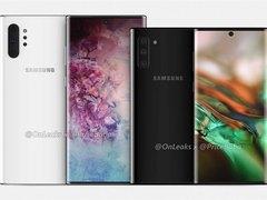 三星Galaxy Note 10下巴参数泄露:比iPhone XS宽