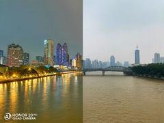 荣耀20 PRO全时四摄镜头下广州的日与夜