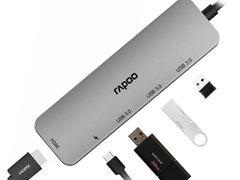 雷柏XD100 USB-C 5口扩展坞分线转换器详解