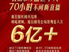 5G时代首次阅兵盛典,中国移动咪咕全场景直播观看人次超6亿