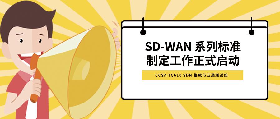 SD-WAN 系列标准制定工作正式启动