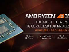 消费级处理器性能新高度!AMD16核台式机处理器锐龙9 3950X即将上市