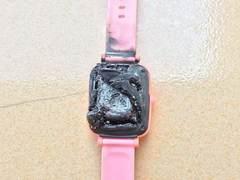 山寨劣质电话手表自燃事件频发,不要让你的选择害了孩子