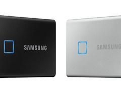时尚轻巧搭载指纹解锁 三星发布移动固态硬盘T7 Touch