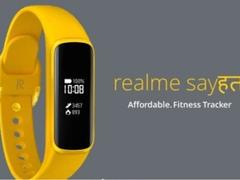 realme手环渲染图曝光黄色硅胶腕带配圆角矩形屏幕