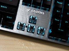 自主银轴防尘防水 雷柏V530背光机械键盘评测