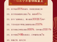 """消费回暖正当时,苏宁开春大数据揭秘""""宅经济""""""""暖春消费"""""""