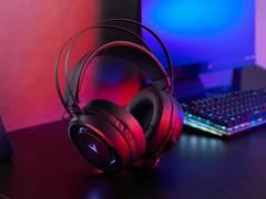 听声辨位ENC降噪,雷柏VH500C虚拟7.1声道游戏耳机视频