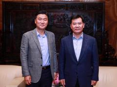 张近东会见三星电子大中华区总裁崔胜植 双方战略合作升级
