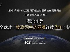 全球品牌奥斯卡揭晓!海尔三度蝉联唯一物联网生态品牌