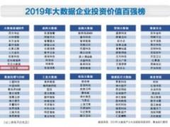 """七牛云入围""""2019年中国大数据企业投资价值百强"""""""